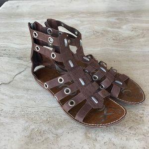 Sam Edelman Leather Metal Sandals